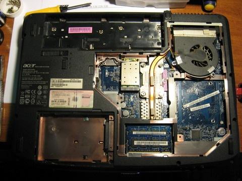 препарированный ноутбук